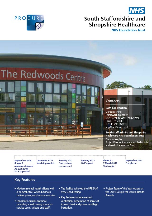 Redwoods Centre, Shrewsbury, South Staffordshire and Shropshire Healthcare NHS Foundation Trust