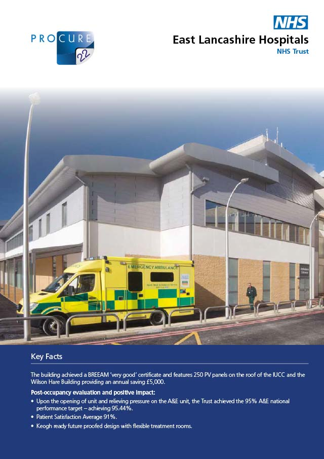 Burnley General Hospital – Integrated Urgent Care Centre, East Lancashire Hospital NHS Trust