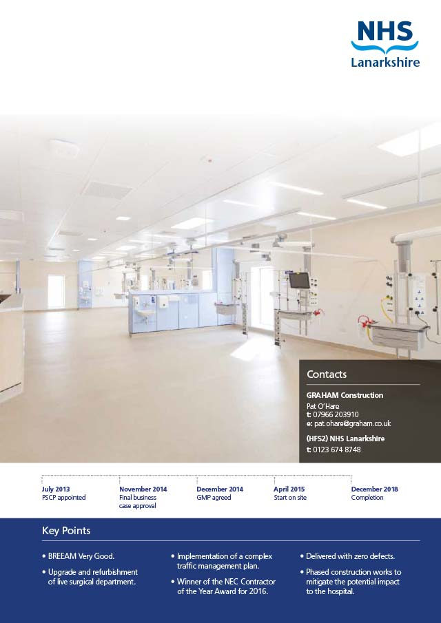 Monklands Hospital Theatres/ITU Refurbishment, NHS Lanarkshire