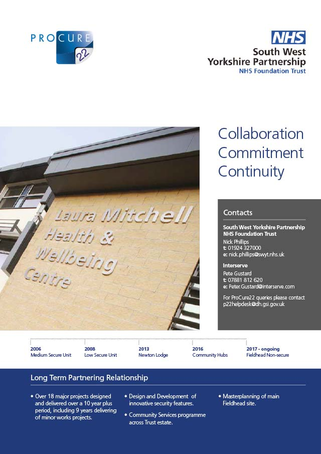 Multiple major and minor Capital Projects, South West Yorkshire Partnership NHS Foundation Trust