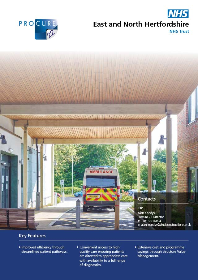 Lister Hospital – multiple projects, East & North Hertfordshire NHS Trust