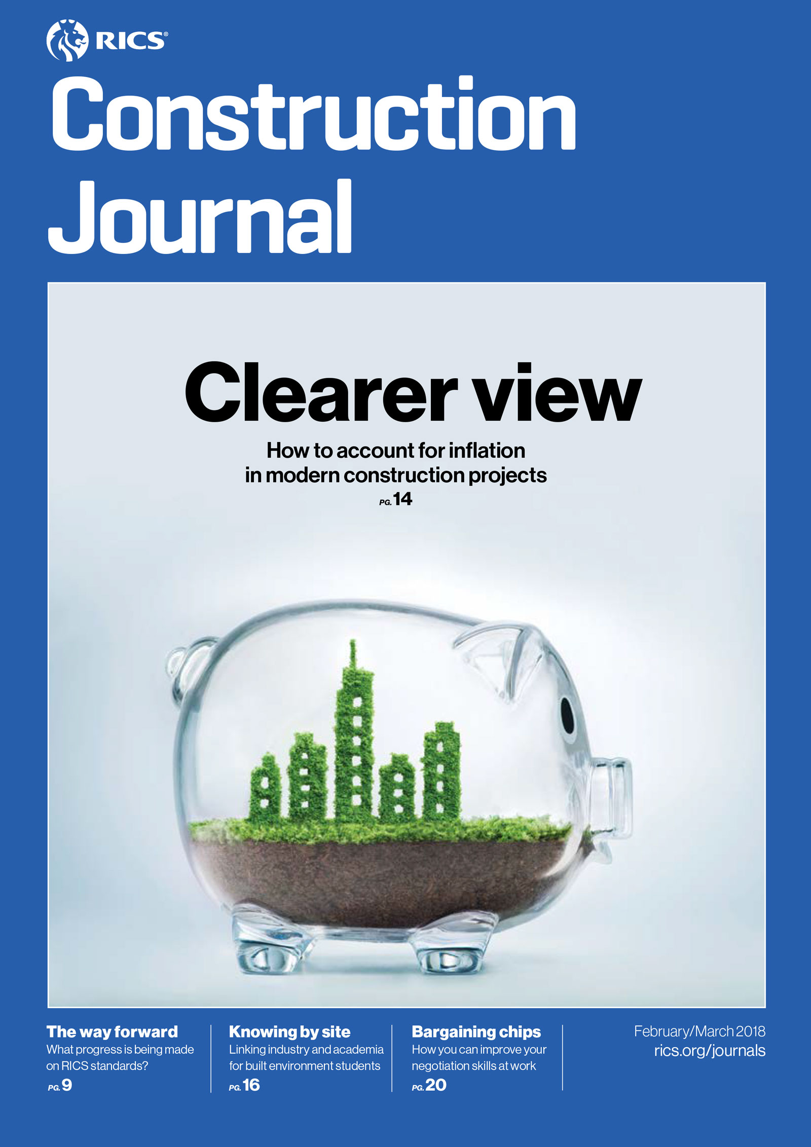 Rics Construction Journal February March 2018 P22 S Clean Bill Of Health Procure22