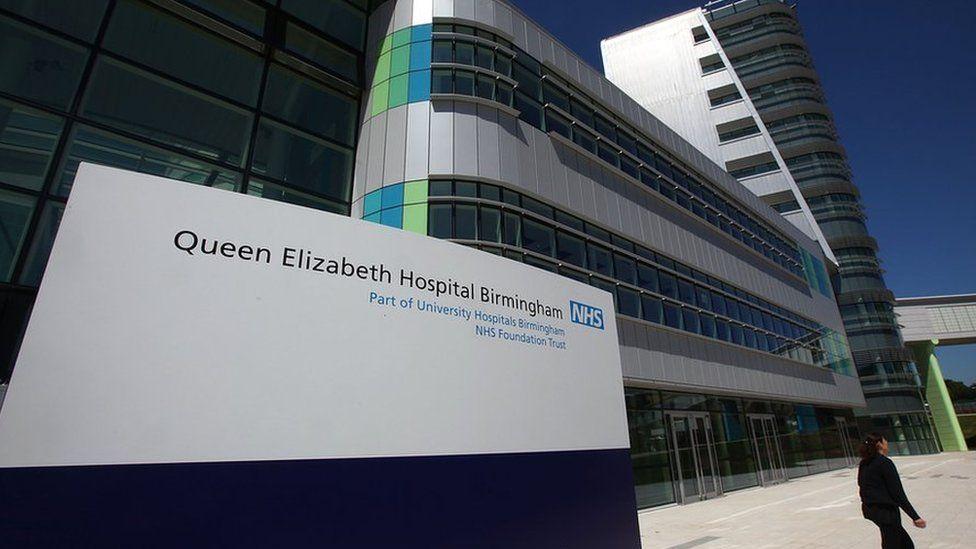 Exterior photo of Queen Elizabeth Hospital