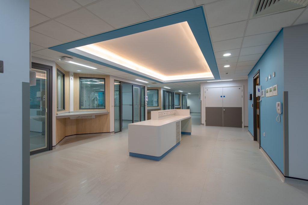 Interior view of Preston Critical Care Unit